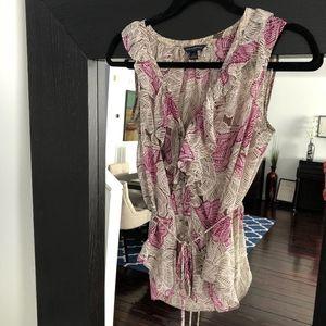 Banana Republic patterned sheer blouse